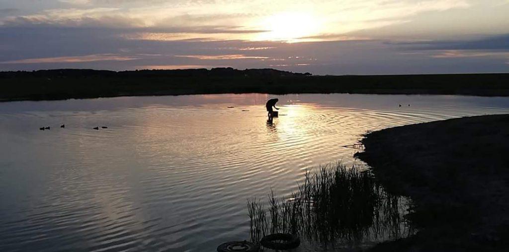 hutte de chasse au gibier d'eau en baie de Somme